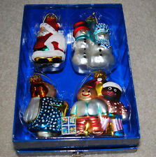 USPS Blown Glass Christmas Ornaments 2005 Stamp Issue Holiday Ornament Set NIB
