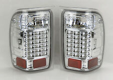 Ford Ranger 93-00 LED Rear Tail Lights Chrome Clear Pair RH LH
