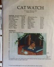 PP33 CAT WATCH by Yvonne Thomson a Decorative Painting Pattern Packet