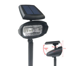 4 PACK 4 SMD LED Solar Powered Spot Flood Landscape Path Lights Lamp Post Yard
