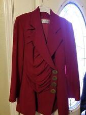 Christian Dior Boutique Red Blazer Jacket sz m