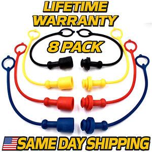 (8 Pack) Hydraulic Coupler Male Cap, Female Plug Replaces John Deere Sub Compact