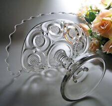 EAPG c1905 J B HIGBEE Glass BANANA STAND * Diamond Point Discs OR Crescent #601