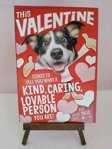 "HALLMARK Singing Pharrell William's Song "" HAPPY"" Valentines Day Card Dog"
