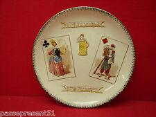 Jolie ancienne assiette, choisy le roi, carte, dame de trèfle, roi de carreau
