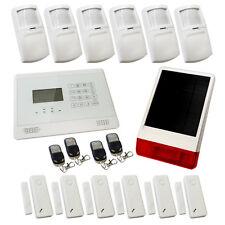 Wireless Burglar Alarm GSM Touch Screen Intruder House White Sentry Pro Solar 4