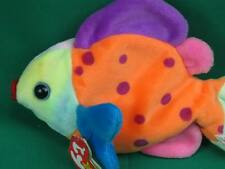 TY BEANIE BABIES TROPICAL FISH LIPS POLKADOT BEAN BAG PLUSH STUFFED ANIMAL TOY