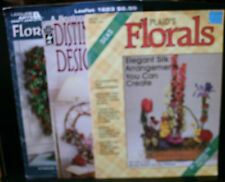 3 Craft Mags, Plaid'S Florals,Silks,Wreath Designs,Guide Foral Arranging,Leisure