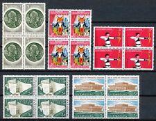 Luxemburg  848 - 852 postfrisse blokken van 4