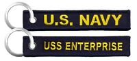 NAVY USS ENTERPRISE MILITARY EMBROIDERED FOB KEY CHAIN