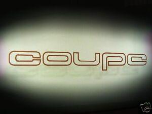 2 Aufkleber Audi 80 Quattro Urquattro Sticker Typ 81/85 Seitenscheibe coupe