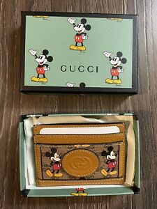 Authentic Gucci x Disney Mickey Mouse  Cardholder *Limited Edition*New in Box*