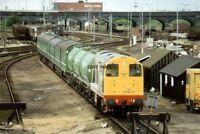 PHOTO  CLASS 20 LOCO NO 20902 WEEDKILLER TRAIN 20903 AT PETERBOROUGH DEPOT 1991