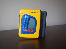 VINTAGE SONY SPORTS WALKMAN WM-FS191 AM/FM Radio Cassette Player Works !!!