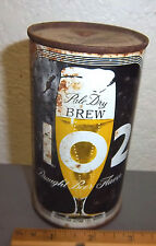 Vintage Pale Dry Brew 102 flat top tin beer can, (empty) great graphics & colors