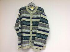 Vintage Cambridge Spirit Lime Green Wool Cardigan Sweater