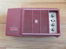 #4U/VINTAGE/RETRO RED SOLID STATE RADIO/WORKS GREAT!