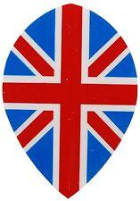 Union Jack Pear Shape dart flights - 5 Sets (15 flights)