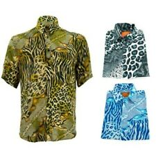 Corte Normal Camisa Manga Corta Loud Originals Animales Leopardo Estampado Tigre
