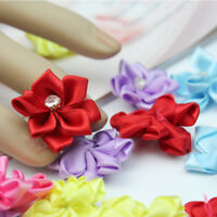 40pcs U pick satin ribbon flowers bows with Appliques Sewing Craft Lovely Life