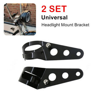 1Pair Motorcycle Steel Headlight Mounting Bracket For 38-51mm Fork Light Holder