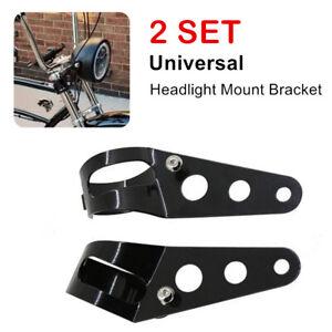1Pair Motorcycle Steel Headlight Mounting Bracket For 38-51mm Fork Light Holder