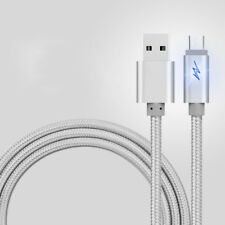 1/2/3M Micro USB 2.0 Led Breath Light Nylon Braided Charging Data Charger Cable