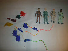 Real Ghostbusters action figures w/ 3x unbroken proton pack & ghosts kenner lot