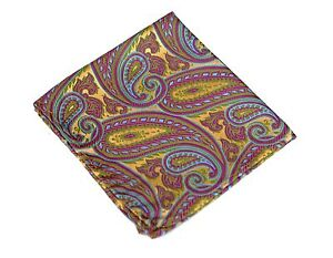 Lord R Colton Masterworks Pocket Square - Autumn Copper Soft Pink Silk - $75 New