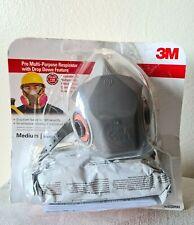 3M Authentic Pro Multi Purpose Respirator Drop Down Half Face 62023DHA1 Exp 2024