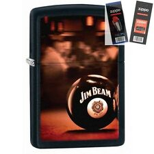 Zippo 28840 jim beam bourbon Lighter with *FLINT & WICK GIFT SET*