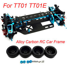 Alloy Carbon Shaft Drive Car Body Frame Kit for TT01 TT01E 1/10 RC 4WD Touring