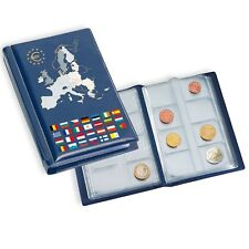 Coin Wallet for 12 Euro coin sets Blue Pocket Album LEUCHTTURM 330102 POCKETEURO