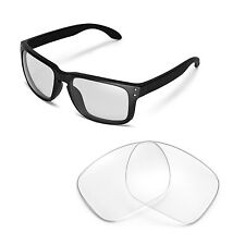 New Walleva Clear Replacement Lenses For Oakley Holbrook Sunglasses
