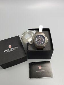 NEW VICTORINOX SWISS ARMY INOX Titanium  Brown Man's Watch 241778 200meters