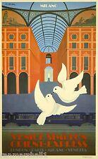 Orient-Express Milano Italy Paris London European Travel Poster Advertisement
