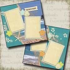 BEACH BUM - 2 Premade Scrapbook Pages - EZ Layout 2069