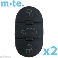 2 x Audi A2 A3 A4 A6 3 Button Replacement Key Remote Shell/Case/Enclosure