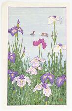 Toshi Yoshida, Iris, Original Japanese Woodblock Print