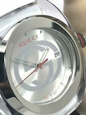 GUCCI SYNC YA137102 White Rubber Band 46mm Clear Case Swiss Quartz Men's Watch