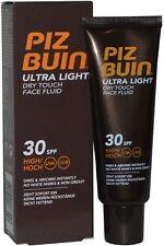 Piz Buin Ultra Light Dry Touch Face Fluid 50ml SPF30 High UVA/UVB Non Greasy
