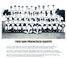 1958 SAN FRANCISCO GIANTS 8X10 TEAM PHOTO BASEBALL PICTURE MLB B/W