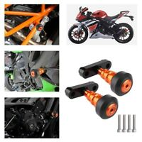 Pair Orange Frame Sliders Crash Pads Protector KTM 125 200 390 DUKE 2012-2015