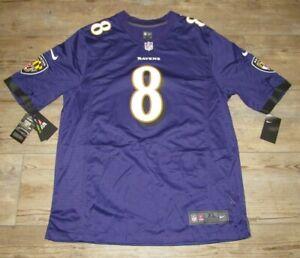 Nike Baltimore Ravens Lamar Jackson #8 Game Home Football Jersey size Men's XL