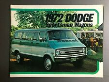 1972 Dodge Sportsman Wagons Showroom Advertising Sales Brochure RARE Awesome