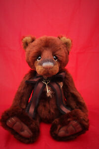 Charlie Bears 2017 Isabelle Collection Mrs Brown Mohair Bear Limited Edition