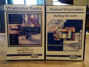 DVD - Sterling Edwards - Watercolor Basics & Abstract Watercolors - 3 dvds total