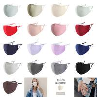 Null Karat Mund-Nasen-Maske Communitymaske 100% Baumwolle Waschbar Unifarben Uni