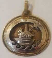 Womens Pendant Jeep Collins  Sterling Silver Brass Noah's Ark Shadowbox Retired