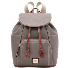 Dooney & Bourke Elephant Gray Pebble Leather Large Backpack Bag